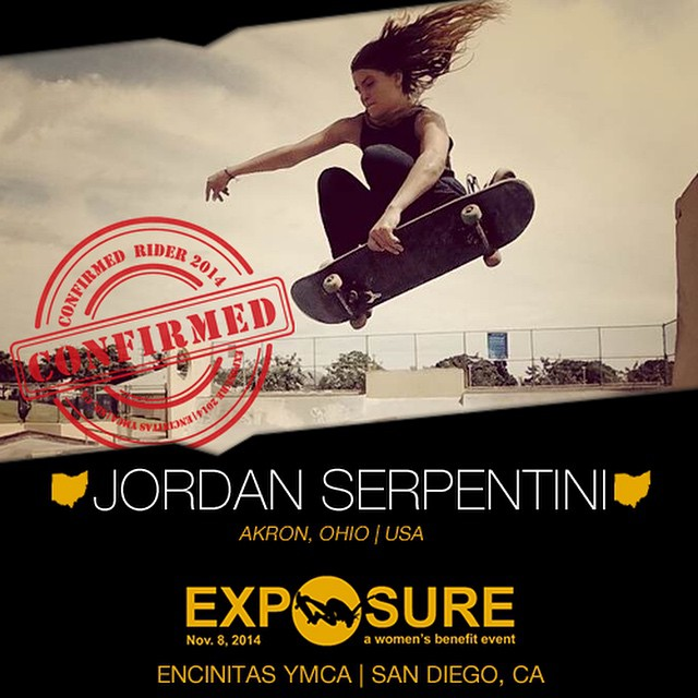 Confirmed for #EXPOSURE2014 --- Jordan SERPENTINI @jaytayserp  Birthplace: Cleveland, OH Hometown: Akron, OH Resides: Haleiwa, HI Started Skating: 2000 Hobbies: Painting, guitar, surfing, snowboarding You Might Not Know: Jordan has a twin...