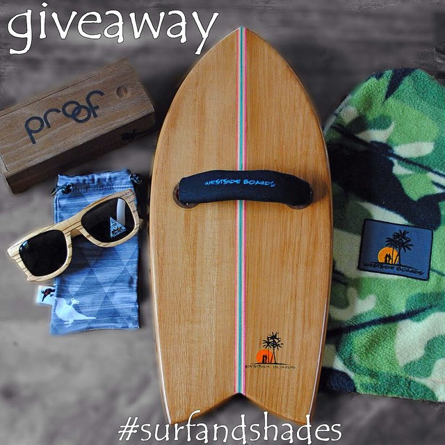 Westside Boards is hosting a 'Wood is Good' Giveaway on their IG. For a chance to win an eco-friendly paulownia handplane with an upcycled skateboard stringer & walnut leash plugs + a pair of Proof Ontarios, check out @westsideboards! #surfandshades