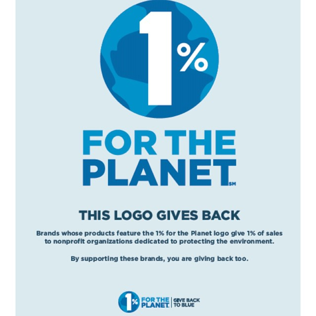 This logo gives back! Join our network of over 1,000 companies that #giveback to blue.