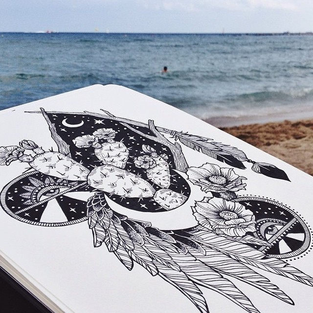 Some seaside sketchbook inspiration from Aussie gal @raychponygold #allswell