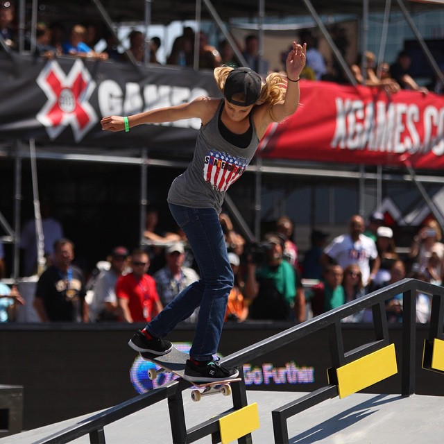 X Games silver medalist @alanasmithskate turned 14 today. (
