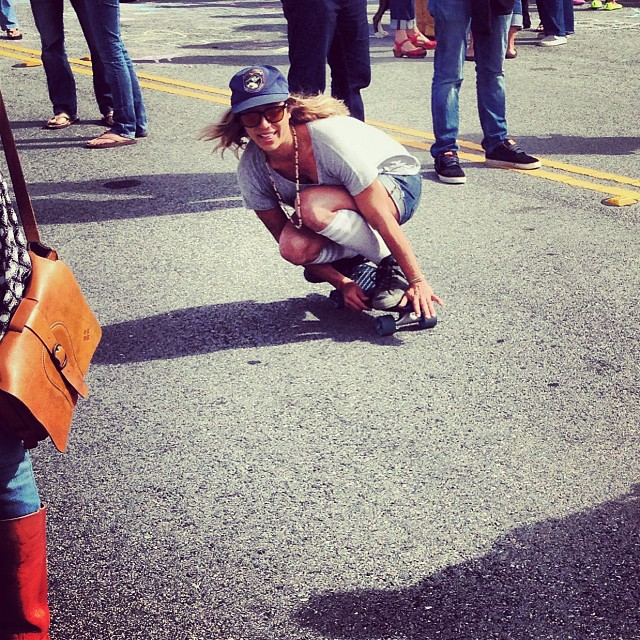 @scrambby cruising through the crowd during Don Carlos at OB Music Festival. #NetsToDecks