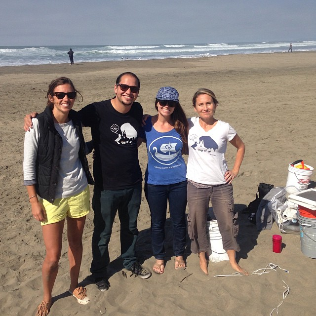@5gyres crew finish in up the plastic beach study at Ocean Beach this morning...thanks also to @sfsurfrider for bringing out a crew to clean! #RiseAbovePlastics