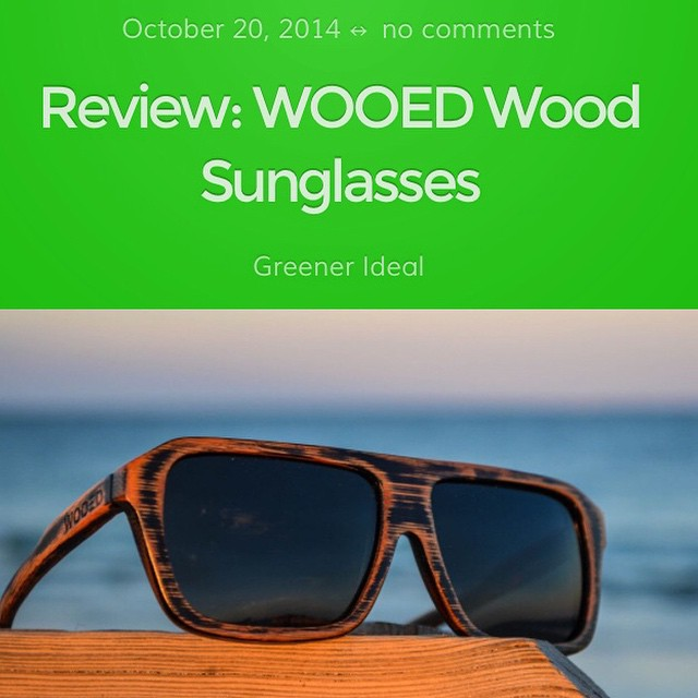 Thank you for the great review, Ian!  http://www.greenerideal.com/lifestyle/1020-review-wooed-wood-glasses/