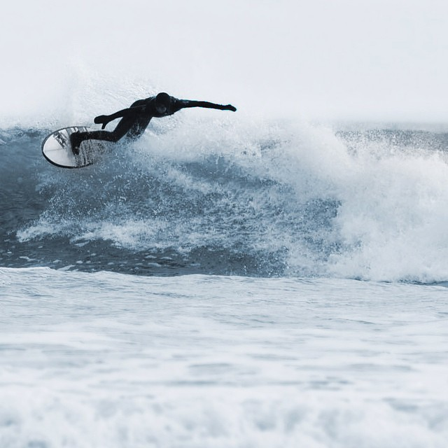 More #maine action. @maxhirsh1 photo John Casey #coldwatersurf #surf #newengland