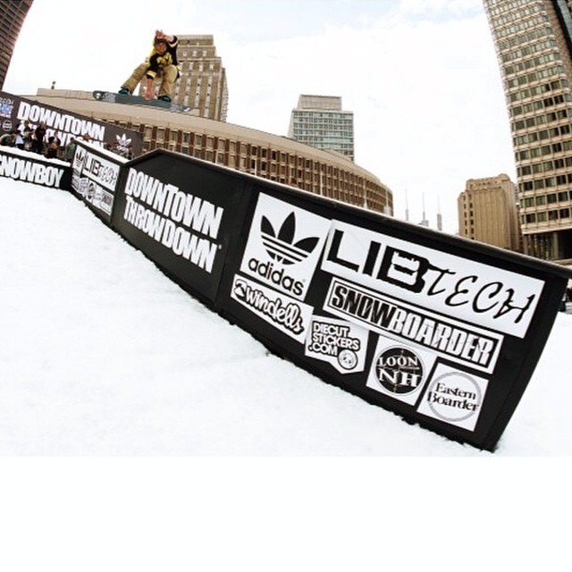#regram from @shaunmurphy413 and @twsnow Shaun Murphy ripping the Downtown Throw Down in Boston.