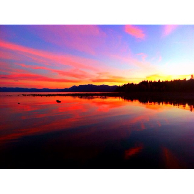 Last night's sunset snapped by @kayalampa // #thisistahoe