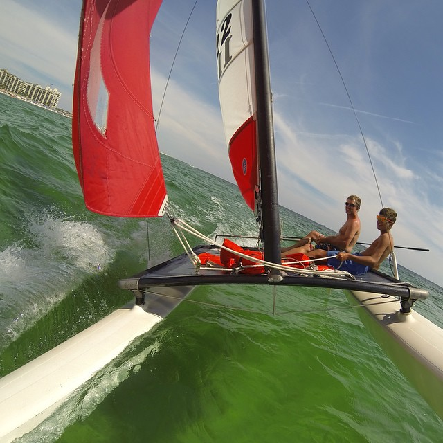 Photo of the Day! Sailing in the Gulf of Mexico. Photo by Peter Jansson.