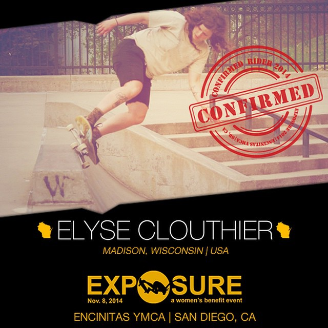 Confirmed for #EXPOSURE2014! --- Elyse CLOUTHIER Hometown: Madison, WI Hobbies: Reading, music, dancing, nature --- Register now to compete at www.exposureskate.org/?page_id=1426