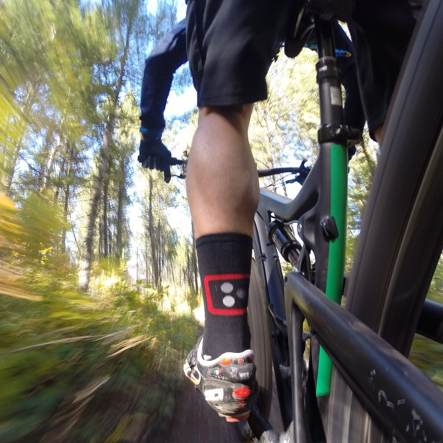 @jonnyinutah shredding singletrack in Jackson, WY. Captured in Burst Mode with the WiFi remote.