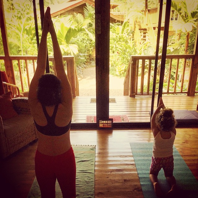Learning young! #motherdaughteryoga #yogamommy #yogababy