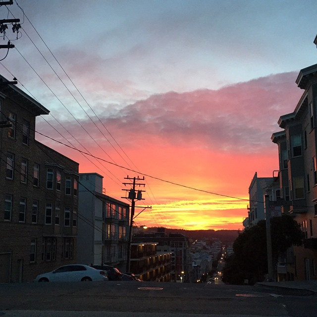 Fire in the sky #sanfrancisco #sunset #sunsetchaser