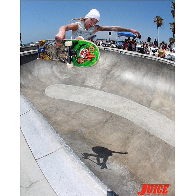 So stoked this ripper will be competing at #EXPOSURE2014. Julz Lynn (@julzlovespoolz) at Venice.