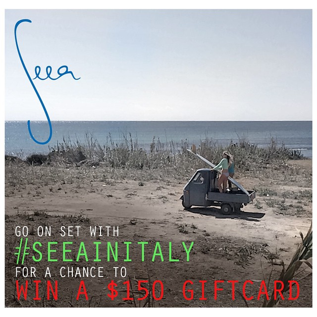 Did you notice the letters posted during our photo shoot in Italy? Connect them all to uncover a word and you could win a $150 gift card! Click on the link in our profile page to enter-http://bit.ly/SeeaItaly