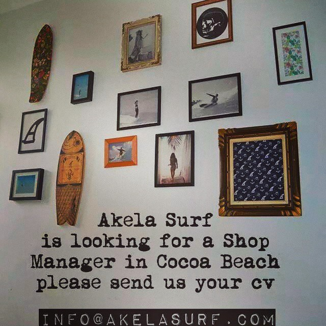 #AkelaSurf  is looking for Shop Manager please contact us at info@akelasurf.com Aloha!!!