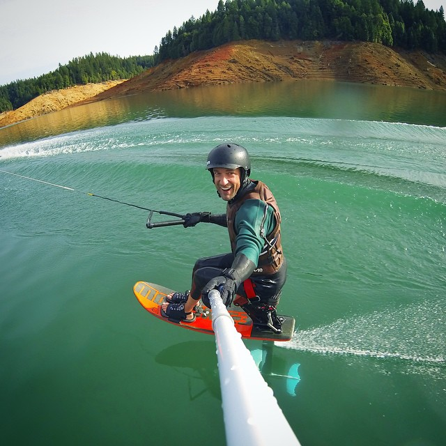 #SmilesForMiles w/ endless #BullardsBar GLASS in October!!! Friends, foils, laughter, & perfect conditions abound - flying over water blows my mind every time!!! | @gopro | @gopole | @centurionboats | @skyskihydrofoils | #highfivesathlete |...