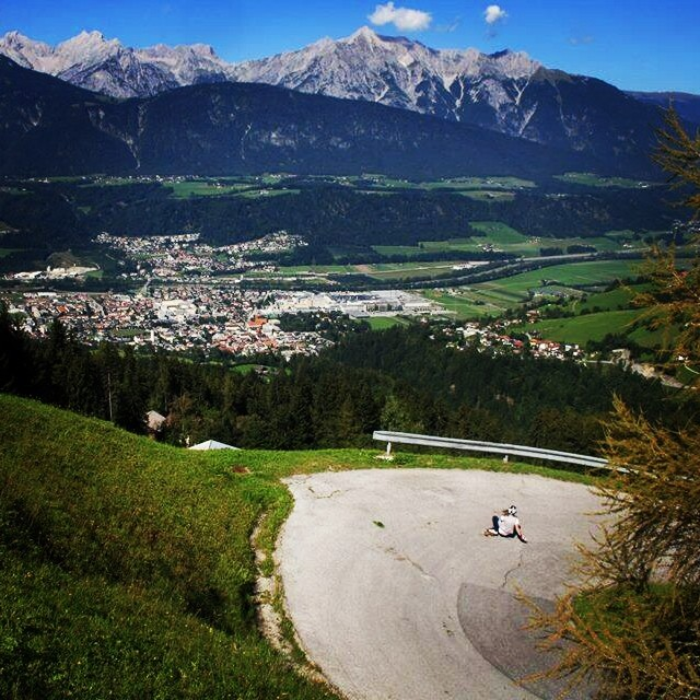 @longskatelui shredding some local hills in #Austria. Skate with a view! Pic Johannes Brückner