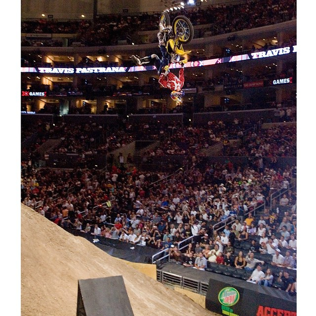 @TravisPastrana keeps a top secret list of tricks he wants to stomp.  Check out XGames.com for the scoop. (