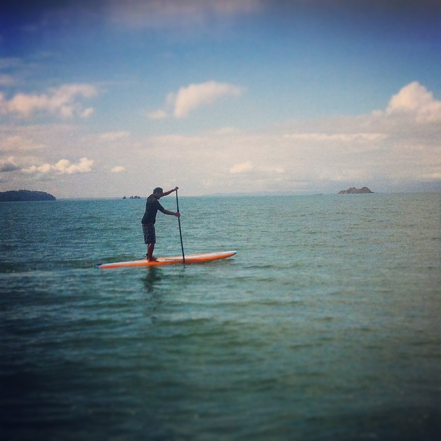 "Throwback Thursday to some amazing SUPing and snorkeling in Bahia Uvita. WE CAN'T WAIT for ""summer""! #tbt #sup #paddleboard #supcostarica #snorkeling"