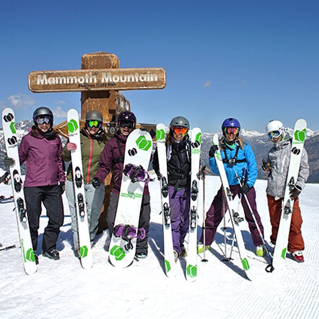 Fun times last year at #Mammoth. Can't wait to reunite the crew this winter! Who are you excited to reconnect with when the flakes start to fall? #tbt #skiing #snowboarding