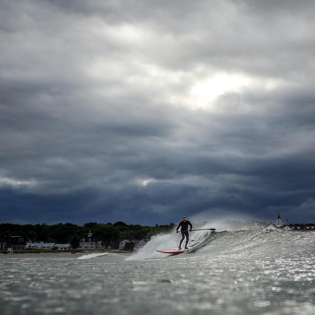 Happy Friday, everyone! Photo by @alex_kozikowski #tgif #coldwaterpaddle #coldwatersurf #newengland