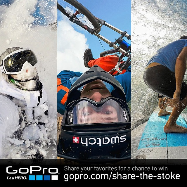 Share the Stoke! Get involved to win a massive amount of GoPro gear and more…! http://gopro.com/share-the-stoke.