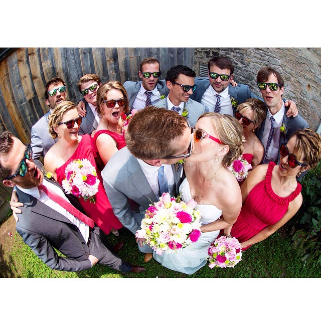 Fan Photo Friday! A very Sunski wedding party - how cool is that!? Thanks Bert & Jen, and congratulations