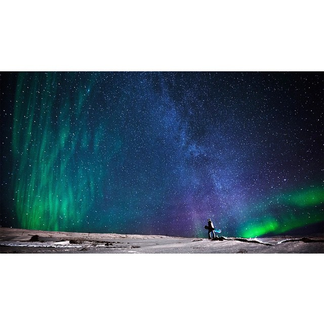 While filming in Akureyri, Iceland, @eikih87 experienced the Milky Way and the Northern Lights. (