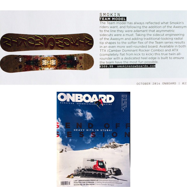 The  team this season loved the Awsymettrical geometry and asked us to make it softer and have it available flat - #ATX and camber dominant rocker #TTX . I tested it throughout development and it's my go to all mountain board. The guys @onboardmag love...