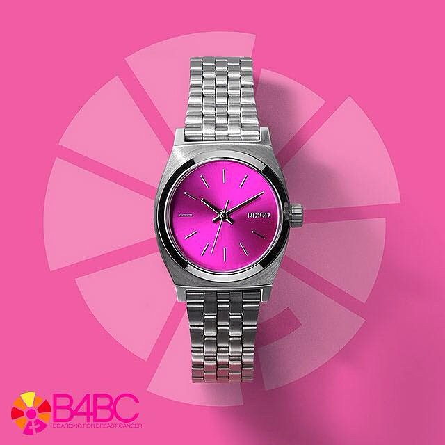 The new @nixon_now x B4BC Small Time Teller just dropped today, and we are  o b s e s s e d ! This fresh new style in #pink sundial is Nixon's latest in their years of support for Boarding for Breast Cancer's education and prevention programs.  Get...