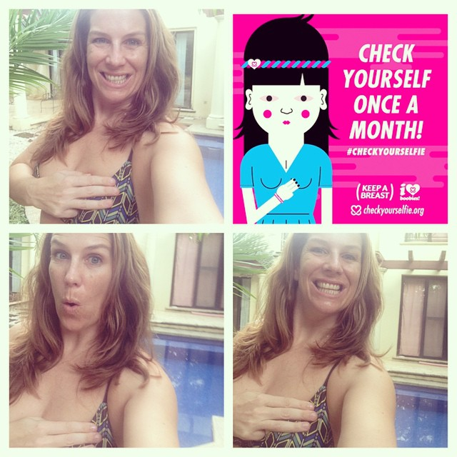 Are you checking yourself once a month and kicking breast cancer in the behind?! Go to checkyourselfie.com to get a free app to remind you of your monthly check! #miola #miolainthewild #checkyourselfie #keepabreast #breastcancerawareness #getoutthere...