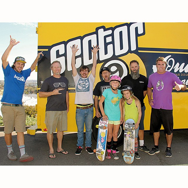 Two of our favorite local shredders - @brycewettstein and @brightonzeuner - hanging with the @sector9 crew. Bryce and Brighton, along with #Sector9, will be at #EXPOSURE2014 on Nov. 8.