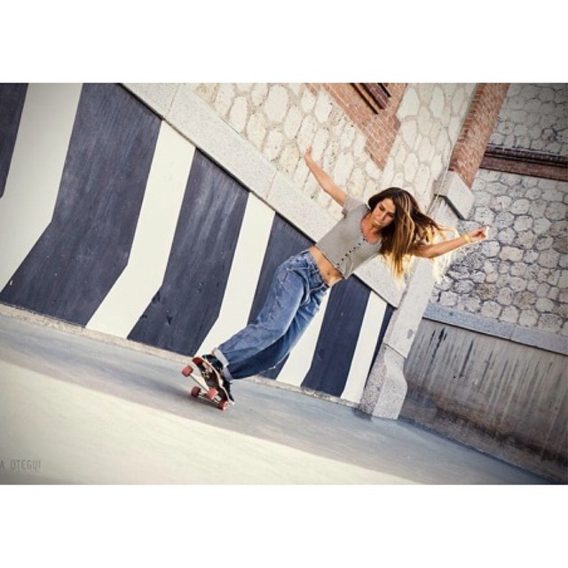 @cristinamandarinaa a week ago during the Open premiere weekend in #Madrid. Skills & style! @noelia_otegui photo.  #longboardgirlscrew #girlswhoshred #lgcopen #cristinamandarina