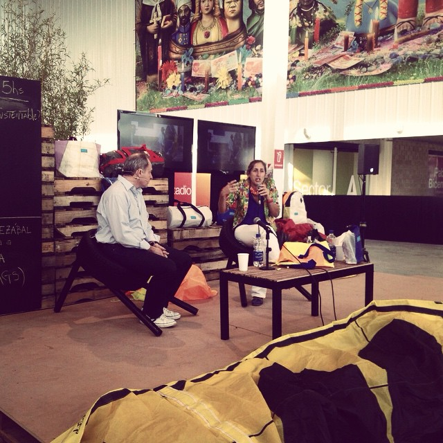 Pachu & Sergio Elguezabal (#TNecologia) . Mafia #talk at #tecnopolis .  #madeinarg #sustainable #kiteboarding
