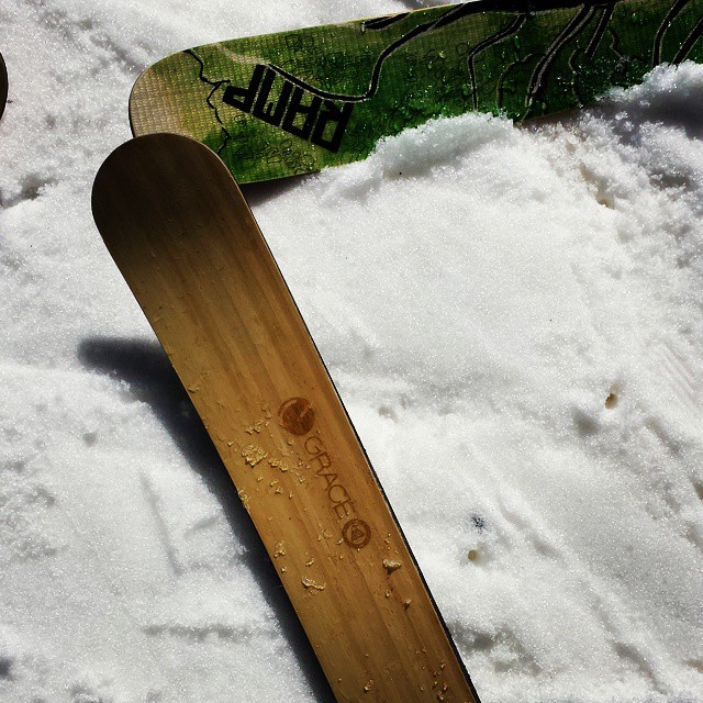 One run at @arapahoe_basin and #indieskis are everywhere!  #orangehot  @rampsports sporting some bamboo too!