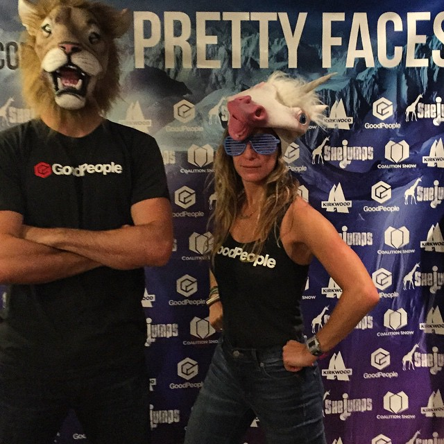 Nothing quite like a unicorn picnic- #PrettyFacesSF is going down right now @shejumps @coalitionsnow #prettyfaces #sanfrancisco #goodpeople #gobigdogood #skiing #snowboarding