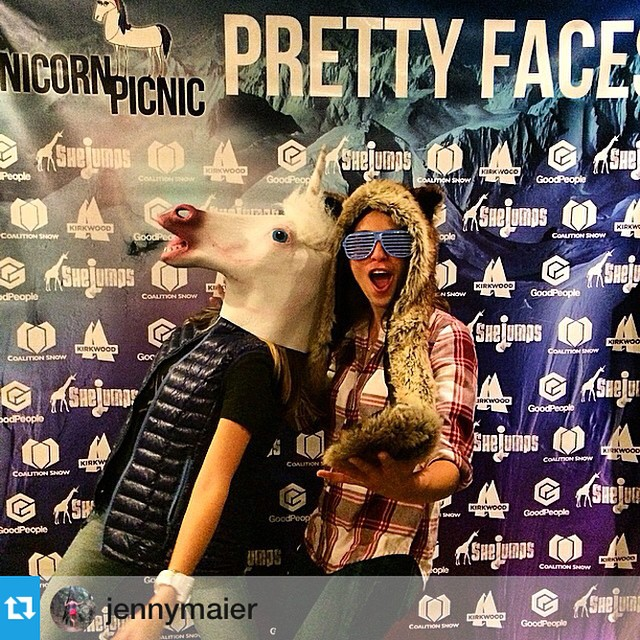 So much stoke at #SanFrancisco @prettyfacesmovie. Congrats to @jennymaier for the most hilarious photo of the evening!! @goodpeoplelife @shejumps #sisterhoodofshred