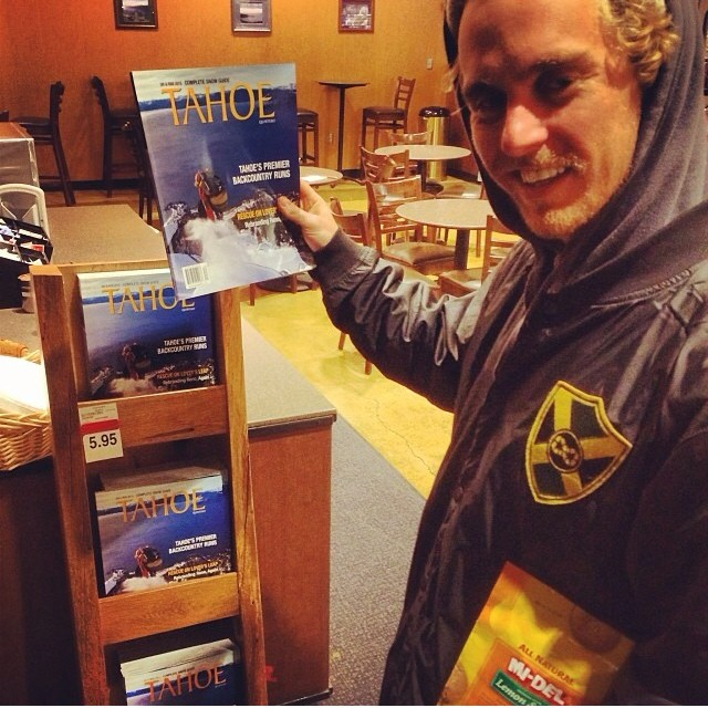 iNi rider curtis woodman, @insta_wood is graced with the cover of #Tahoe Magazine. Find one near you if your in the #NorCal area. #Regram from @fokust .