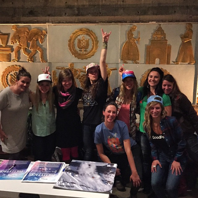 These girls - so inspired! Can't wait for winter! Thank you @prettyfacesmovie for an awesome night! The movie rocked! #prettyfaces #prettyfacessf #sanfrancisco #skiing #snowboarding #winteriscoming #sisterhoodofshred #chicksthatrip