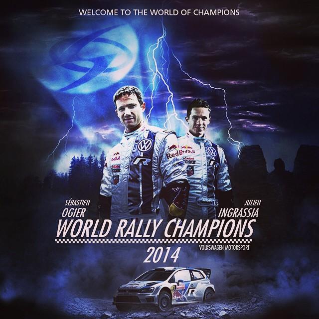 Congratulations to #SebastienOgier - double #WRC world champion. #superheroes