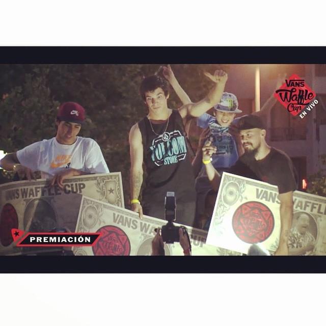 Felicitamos a nuestro raider! Chinito Moral por el primer puesto en la final latina del #VansWaffleCup @sandromoral @volcom #Skate #SandroMoral #VolcomArgentina