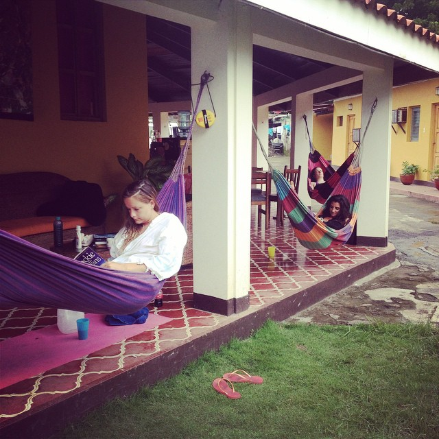 Hammock chilling at SOLID while waiting for some jalapeño chicken and fresh squeezed juice for lunch!