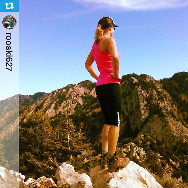 Happy Monday. #Repost from @rooski627 with @repostapp --- Little morning scramble up Olympus, now time for some mtn biking! #ladyshred #iamsj