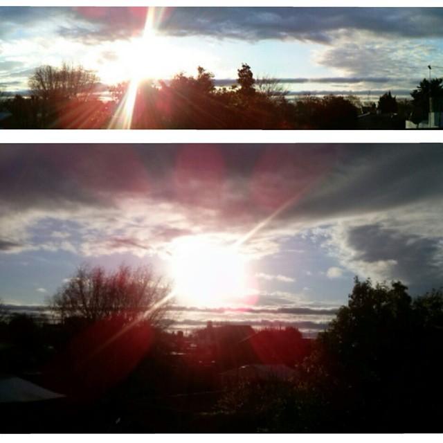A nadie le haría mal mirar hacia arriba de vez en cuando. #twilight #sky #sun #winter #atardecer #cielo #ventana #loveit