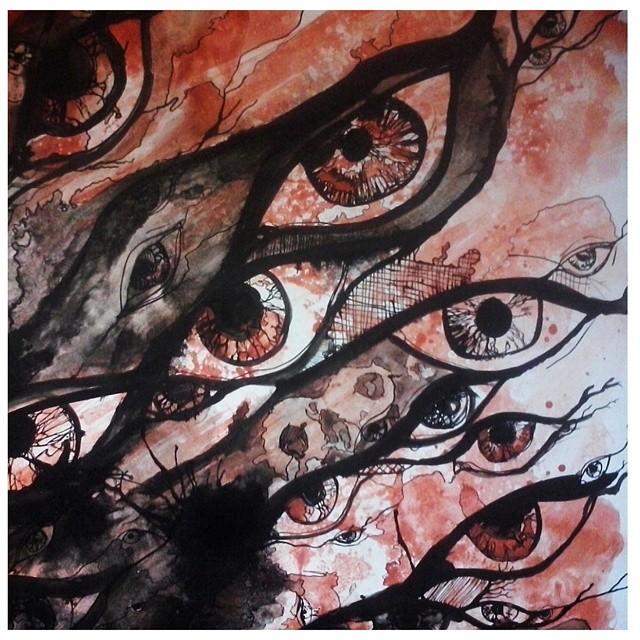 Miremos lo que nadie mira. - detalle- #eyes #art #arte #acuarela #tinta #ink #instaart #passion