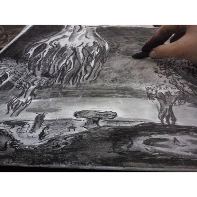 Un poco de arte antes de seguir estudiando historia del arte. #art #arte #dibujo #carbonilla #love #it #instapic #instaart #happy