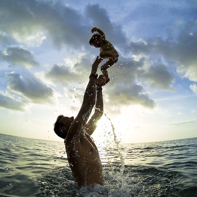 Photo of the Day! Water baby. Simona Molinari and family enjoy the ocean in Guadalupe.