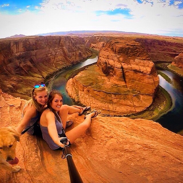 #Kameleonz hanging out at Horseshoe Bend with @elise104 & @mccleary22 #ThisIsMyBeach | #LifesABeach #WheresYourBeach #GoPro #GoPole #EpicTravelSpots USE PROMO GHOSTS TO GET 30% OFF EXP NOV 1