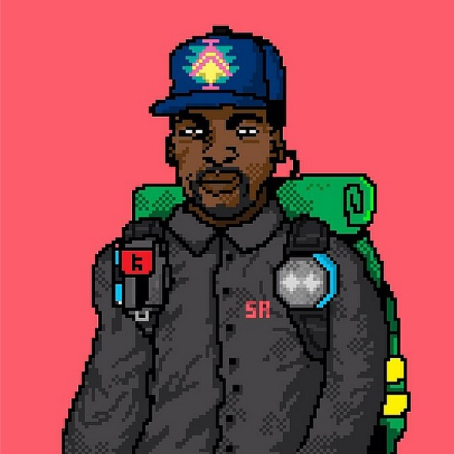 Be ups to @stayalivenyc for keeping his creative messenger portraits going. Follow our buddy Cordell for more awesome works. #messengerstudy #8bitportraits #boombotix