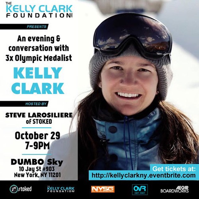 #STOKEDorg is hosting an event this Wed for @kellyclarkfdn along with our friends the NY Snowboard Group, OvRride, and Aegirboardworks. RSVP at kellyclarkny.eventbrite.com #snowboarding #dumbo #brooklyn #stokedneverstops